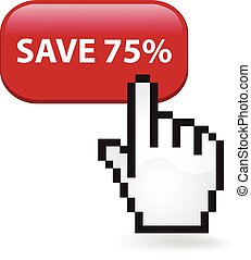 Save Seventy Five Percent Button - Save seventy five percent...