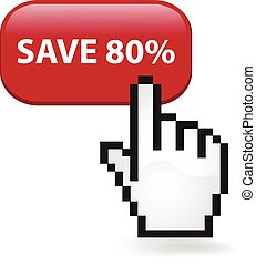 Save Eighty Percent Button - Save eighty percent button with...