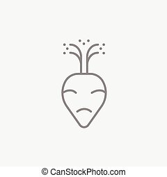 Beet line icon - Beet line icon for web, mobile and...