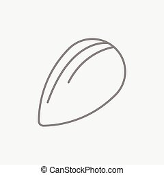 Almond line icon - Almond line icon for web, mobile and...