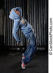 Hip hop dancer - Hip Hop dancer on a street in the night