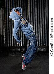 Hip hop dancer - Hip Hop dancer on a street in the night