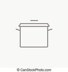 Saucepan line icon. - Saucepan line icon for web, mobile and...