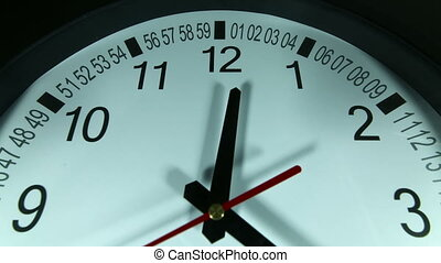 Clock timelapse - black wall clock - Time lapse of a clock....