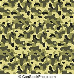 Seamless editable military pattern with camouflage -...
