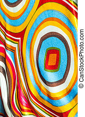 Silk fabric texture, abstract pattern, red yellow green...