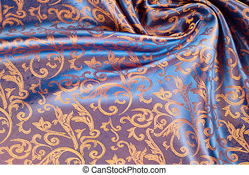 The texture of the silk fabric. Yellow Orange, Gold, Almond,...
