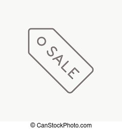 Sale tag line icon. - Sale tag line icon for web, mobile and...