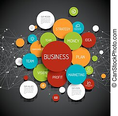 Business infographic diagram - Vector Abstract Business...