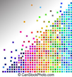 Colorful mosaic tiles - Vector - Illustration of a colorful...