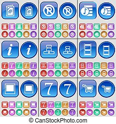 A large set of multi-colored buttons Vector - Folder,...