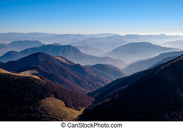 Landscape view of beautiful autumn mountains, Slovakia -...