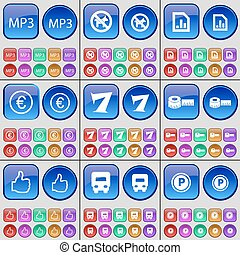 A large set of multi-colored buttons. Vector - MP3, No pets...