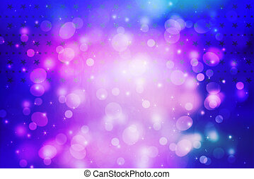 Beautiful artistic background with bokeh lights