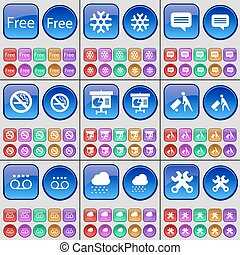 Free, Snowflake, Chat bubble, No smoking, Diagram, Delivery,...