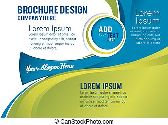 Professional business design layout template or corporate...