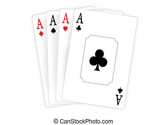 four aces - Four aces isolated on white background