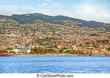 Funchal, Madeira - View of Funchal, Island of Madeira,...