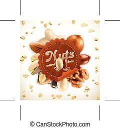 Nuts vector label