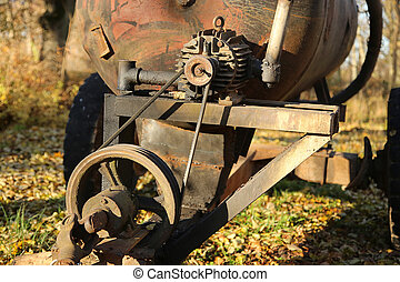 Old rusty mechanism - Old rusty Electric Motor and Flywheel...