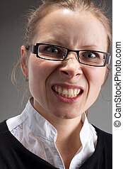Angry leadership businesswoman - Portrait of angry...