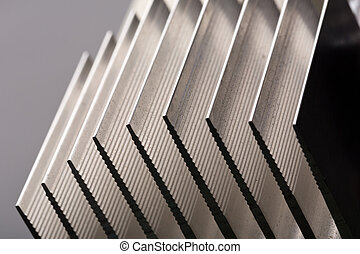 Metal stripped radiator closeup picture - Image of metal...