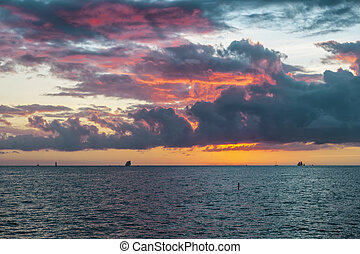 Key West sunset - Spectacular sunset over Gulf of Mexico...
