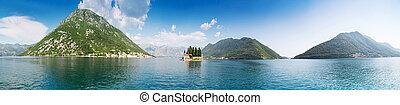 Boka-Kotor bay - Sea and mountains in Boka-Kotor bay,...