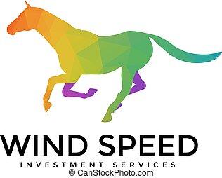 Running Horse Logo Template