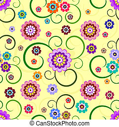 Seamless floral pattern (vector) - Seamless floral...