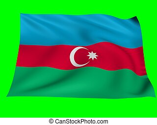 Flag of azerbaijan - Flag of azerbaijan blowing in the wind...