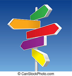 Directional Signs vector - Directional Signs