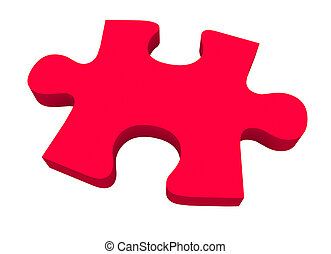 Final Puzzle Piece Red Complete Picture Solve Problem - A...