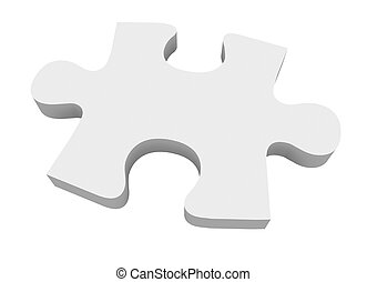 Final Puzzle Piece White Complete Picture Solve Problem - A...
