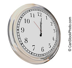 Clock Face Isolated Time Passing Hours Minutes Seconds...