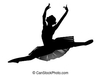 The ballerina - We have a silhouette the ballerina on a...