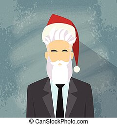 Profile Icon Businessman Male New Year Christmas Holiday Red...