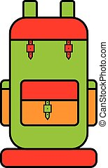 backpack - Schematic travel backpack with bright colors