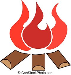 bonfire - graphic image of wood and fire