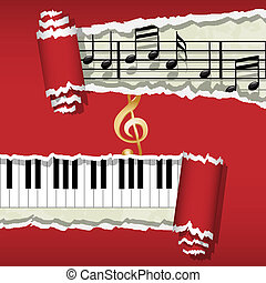 Melody-Piano-Music notes - Illustration of musical notes and...