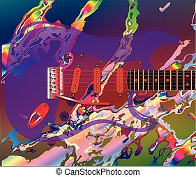 Psychedelic Guitar Background - A jazz psychedelic...