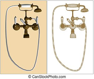 Retro-Styled Copper Faucet Ve... - Retro-Styled Copper...