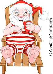 Santa Claus Relaxing