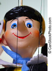Traditional puppet - Pinocchio, vertical - Traditional...