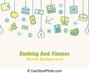 Finance and banking ,Money background , print , seamless
