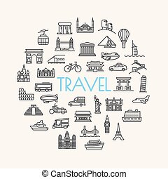background travel, vacation, famous places Transportation...