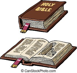 Bible with cache - Bible with a hiding place for a pistol...