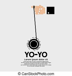 Yo-yo In Hand - Yo-yo In Hand Vector Illustration
