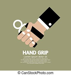Hand Grip - Hand Grip Graphic Vector Illustration