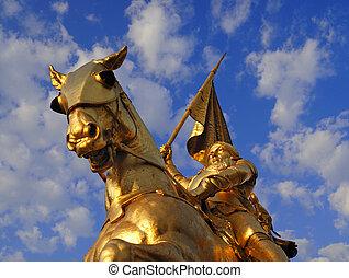 Joan of Arc - Bronze statue of Joan of Arc on Rue de Rivoli...